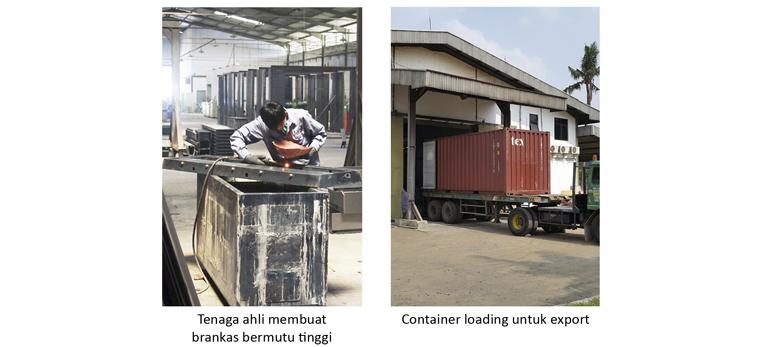 Proses pembuatan brankas dan Pabrik brankas kualitas export